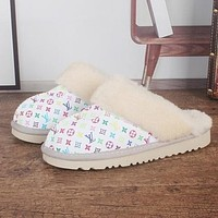UGG x LV Monogram Slippers Shoes Boots-1