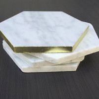 Marble Coasters - Large- Set of Four