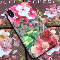 GUCCI Scorpio iPhone6plus Leather 7Plus Mobile Shell Cover red