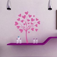 Housewares Wall Vinyl Decal Love Tree with Heart Home Art Decor Kids Nursery Removable Stylish Sticker Mural Unique Design for Any Room