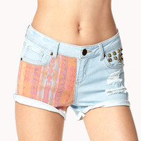 Life in Progress™ Southwestern Denim Shorts