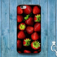 iPhone 4 4s 5 5s 5c 6 6s plus iPod Touch 4th 5th 6th Generation Cute Custom Red Strawberry Fruit Pattern Summer Spring Cool Phone Cover Case