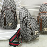 """Louis Vuitton"" Men Fashion Casual Simple Classic Print Backpack Large Capacity Travel Double Shoulder Bag"