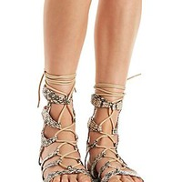 Bamboo Ankle-High Gladiator Sandals
