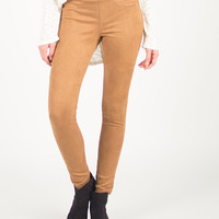 Simple and Stretchy Jeggings - Camel