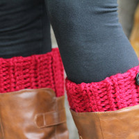 Boot Cuffs Boot Toppers Boot Socks Leg Warmers Ankle by KokoHats