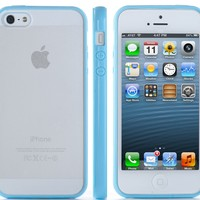 noot Case Cover for Apple iPhone 5 (At&t, Verizon, Sprint, T-Mobile) Baby Blue/Clear