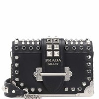Cahier studded leather shoulder bag