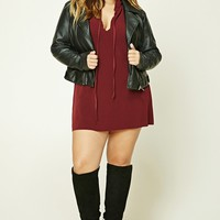Plus Size Hooded Sweater