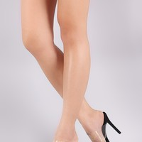 Mule Clear Strap Open Toe Heel