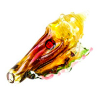 Dynomite Glass - HOLD THIS PIPE TO YOUR EAR & YOUR HEAR THE OCEAN