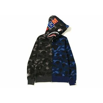 🔥 NEW 100% Authentic BAPE Color Camo Separate Shark Full Zip Hoodie 🔥