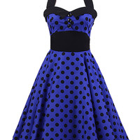 Polka Dots Print Halter Mini Dress with Shirring Back