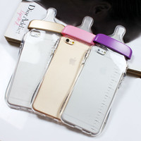 Cute Baby Bottle Phone Case For iPhone 4 4G 4S 5 5S SE 6 6G 6S 6Plus