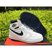 Air Jordan 1 High OG Metallic Navy Size 40-47