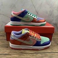 Morechoice Tuhh Nike Dunk Low Sunset Pulse Casual Sneaker Skate Shoes Women Flats Dn0855-600