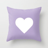 Lavender Heart Throw Pillow by Rex Lambo | Society6