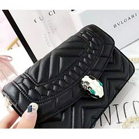 Bvlgari New fashion leather shoulder bag women Black