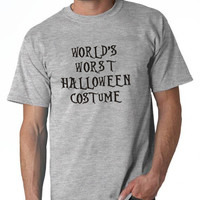 Worlds Worst Halloween Costume Funny T-Shirt Mens Printed Tee Shirt Adult costume This Is My Costume