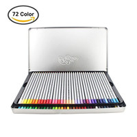 Huhuhero Macro 72 Color Pencils Set with Metal Tin, Professional Soft Core Art Fine Colored Pencils/ Drawing Pencil for Artist Sketch /Adult Coloring Book, Set of 72 Assorted Colors