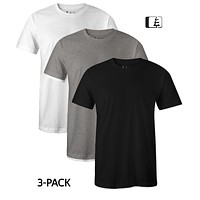 3-Pack 60/40 Blend T-Shirt Black/Grey/White