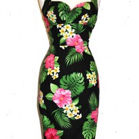 Kawaii Floral Wiggle Dress