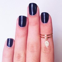 2 Above The Knuckle Rings - Gold Pl.. on Luulla