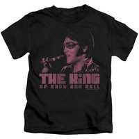 Elvis Presley Boys T-Shirt The King Black Tee