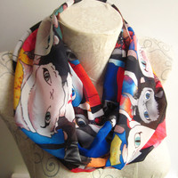 Cat Scarf ,Cat Printed Scarf , Colorful Cat Scarf