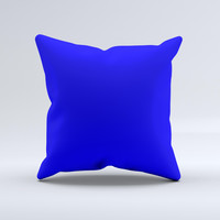 Solid Royal Blue  Ink-Fuzed Decorative Throw Pillow