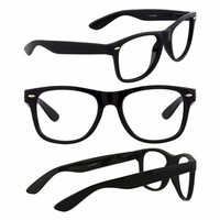 Men's Retro Glasses Nerd Geek Hipster Fake Eye Glasses w/ Clear Lens