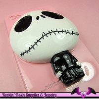 XL SKULL GOTH Character Decoden Flatback Resin Cabochon Cell Phone Deco