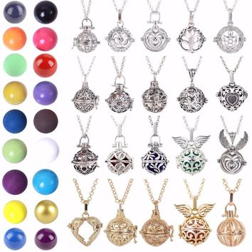 Shellhard Mexico Balls Lockets Pendant Necklace Women Pregnancy Colourful Balls Necklace Making For Women Jewellery Gift