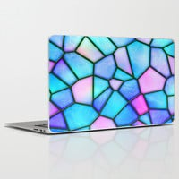 pastel stained glass Laptop & iPad Skin by Haroulita