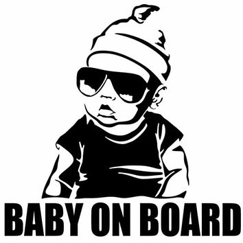 BABY ON BOARD Car Sticker Creative Fashion Tail Warning Sign Decal Poster Stickers