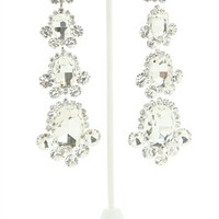 Long Earrings with Bell-Shaped Stone Design