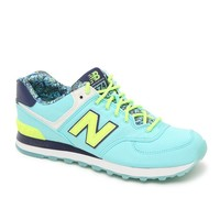 New Balance 574 Luau Collection Running Sneakers - Womens Shoes - Blue