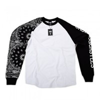 60.00 Crooks & Castles Raglan Squad Life Long Sleeve Shirt