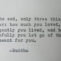 BUDDHA Quote Hand Typed Quote Made with Vintage Typewriter BUDDHA Grace Inspirational Courage Quote