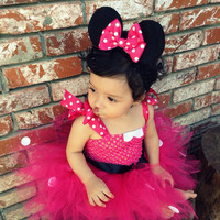 Minnie Mouse Tutu Dress with Matching Headband set