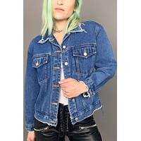 All or Nothin' Blue Jean Distressed Denim Jacket