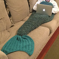 Mermaid tail blanket, Mermaid Cocoon, Mermaid afghan