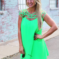 Charlotte's Web Dress {Lime}