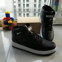 """""""Nike Air Force 1"""" Unisex Sport Casual Letter High Help Shoes Sneakers Couple Plate Shoes"""