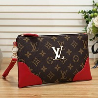 Louis Vuitton LV Women Leather Handbag Tote Clutch Bag