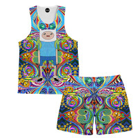 Trippy Finn Tank and Shorts Rave Outfit