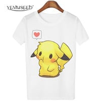 YEMUSEED Hot New Lovers Animal Cartoon Totoro Tshirts Women camisetas mujer Blusa Plus Size O NECK Tops T-shirt