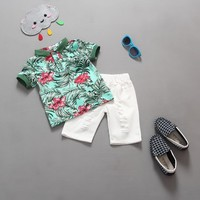 2017 Fashion Boys Clothing set Baby boys girls t shirts+shorts pants sports suit kids clothes summer wear 2T 3T 4T 5T 6T
