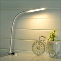 LED Clip Light Type Desk Clamp Lamp Dimming Reading eye USB Table Lights Dimmable 2 Lighting Colors