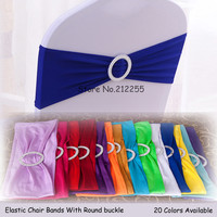 Free Shipping 50PCS/LOT Chair Elastic Band High Quality Spandex Chair Band  With Round Plastic Buckle Wedding Decoration CB-50-1